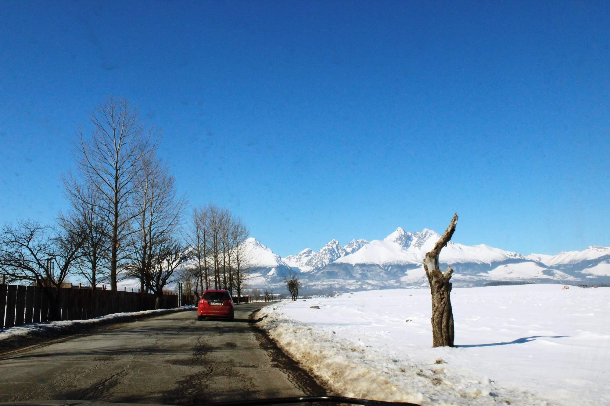 ranný pohľad z cesty, príchod na Residence Lesná Run 2015