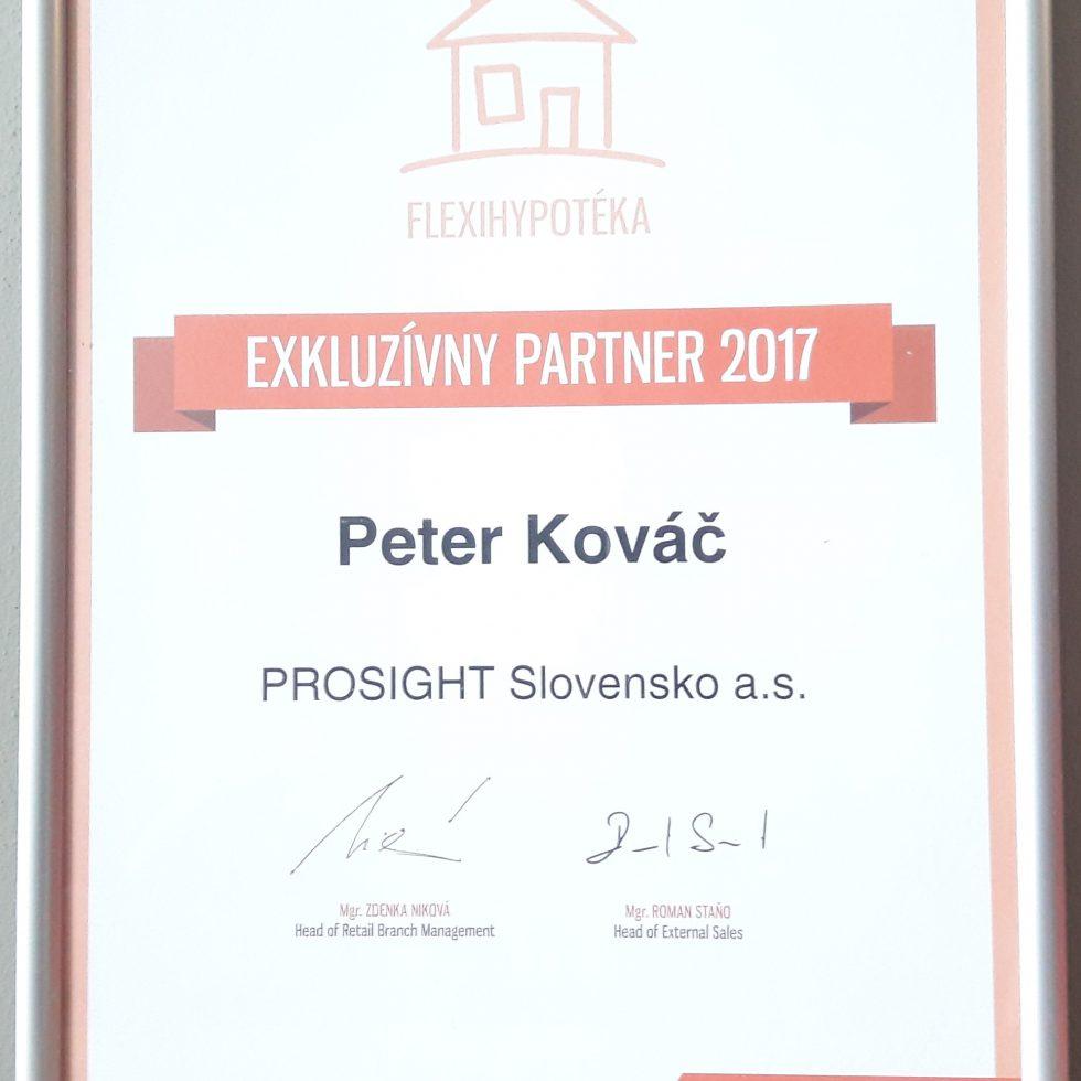 ocenenie za spoluprácu v oblasti hypoték VÚB 2017
