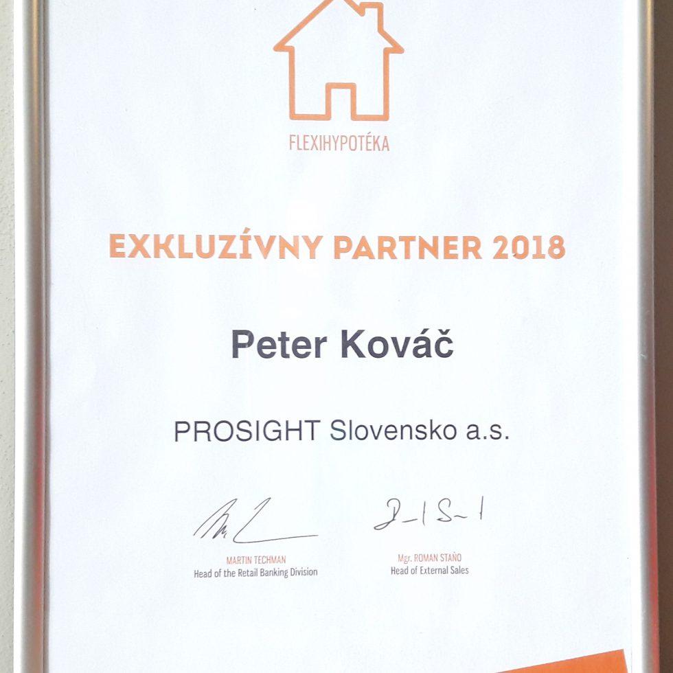 ocenenie za spoluprácu v oblasti hypoték VÚB 2018