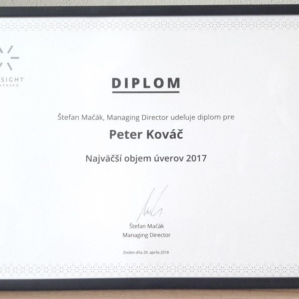 firemné ocenenie za produkciu 2017