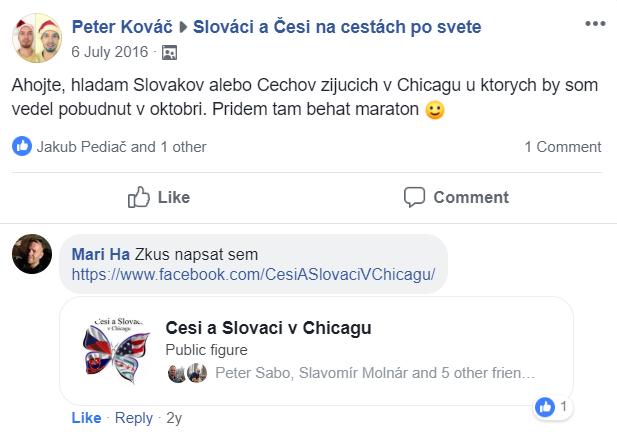 facebook príspevok Chicago 16
