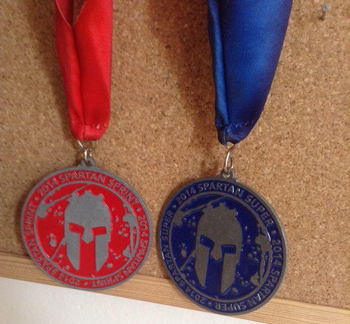Spartan medaile sprint + super