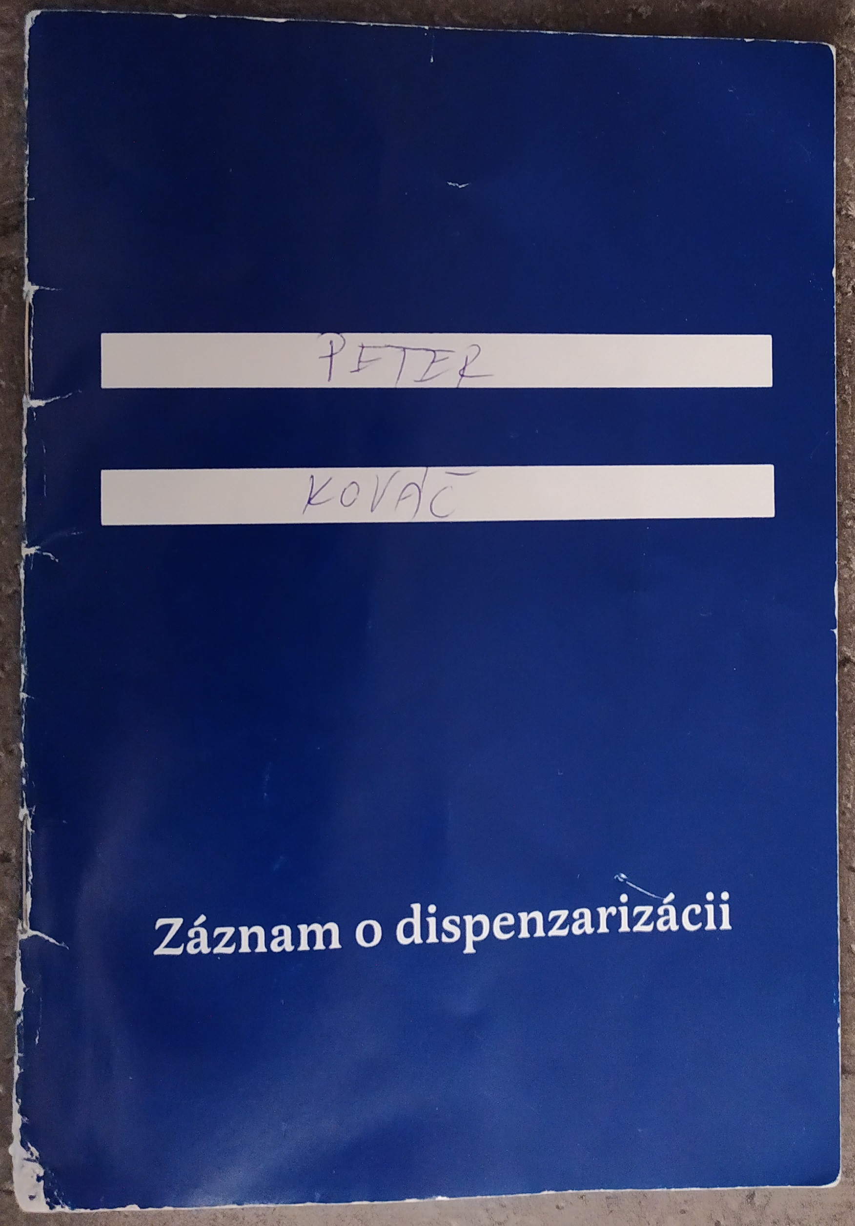 modrá knižka