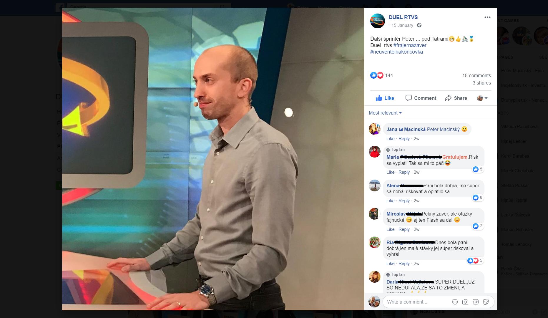 FB RTVS Duel post