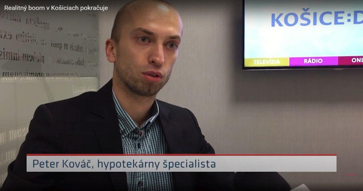 Mediálny výstup KOŠICE:DNES – Realitný boom v Košiciach pokračuje
