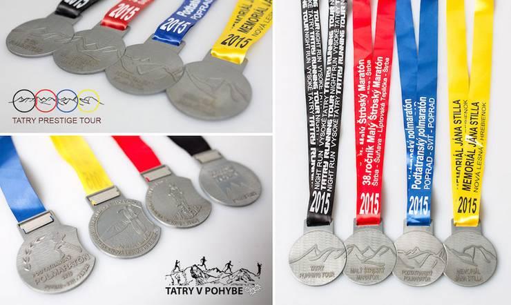 kolekcia medailí Tatry v pohybe 2015